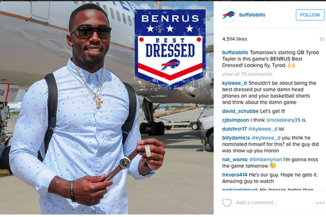 The value is in the content here. Fans like to see the players all dressed up; it gives a peak into their off -the-field style. This is a great example of taking a content first approach and integrating a sponsor.